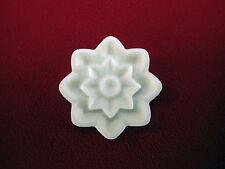 4x Decorative Flower Resin Applique - Furniture/Door Moulding - Onlay - Circular