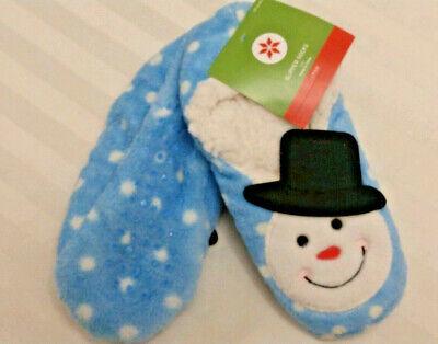 Womens Target Snowman Slippers Socks 307FG