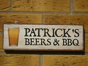PERSONALISED-BEERS-SIGN-DRINKING-SIGN-LAGER-SIGN-BBQ-SIGN-BARBECUE-SIGN-OWN-NAME