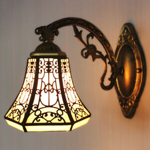 Details About Tiffany Style Vintage Stained Gl Lamp Shade Wall Sconce Modern Barn