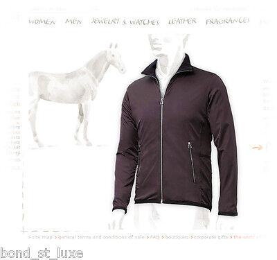 Stylish New Authentic Hermes MENS Warm-up Fleece Jacket Dark Brown L Large