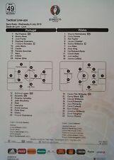 Line - ups UEFA Euro 2016 Portugal - Wales Match 49