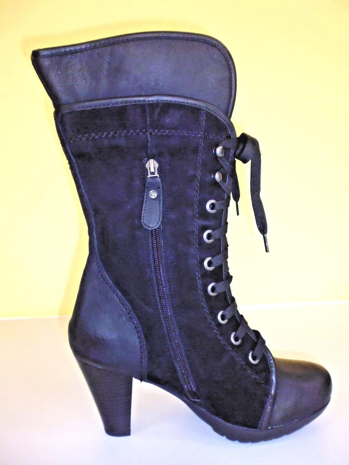 Zapatos botas botines plataforma cuero V. marc zapatos zapatos zapatos negro Gr. 41 (7,5)  despacho de tienda