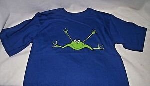 ASL-Frog-I-Love-You-ILY-American-Sign-Language-T-Shirt-Blue-Boy-Girl-14-16-NEW