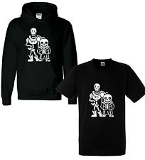 STARDUST UNDERTALE INSPIRED SANS SKELLINGTON KIDS CHILDRENS T-SHIRT BLACK