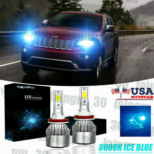 LED GRAND CHEROKEE 2011-2019 Headlight Kit H11 6000K White CREE Bulbs Low Beam
