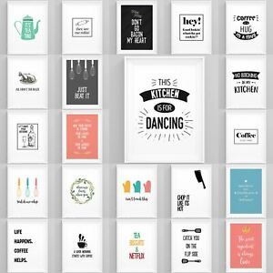 Kitcehn-Prints-A5-A4-A3-Framed-Wall-Art-Cooking-Theme-Quotes-Funny-Pictures-Art