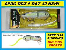 SPRO BBZ-1 RAT 40 Topwater Lure NASTY SHAD COLOR! FREE USA SHIPPING! #SRT40Z1NSD
