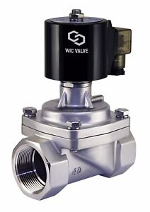 1-5-034-Inch-Stainless-Zero-Differential-Electric-Steam-Solenoid-Valve-NC-110V-AC