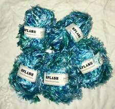 Crystal Palace Splash 9523 Scuba Dive Blues Green Feather Boa Short Eyelash Yarn