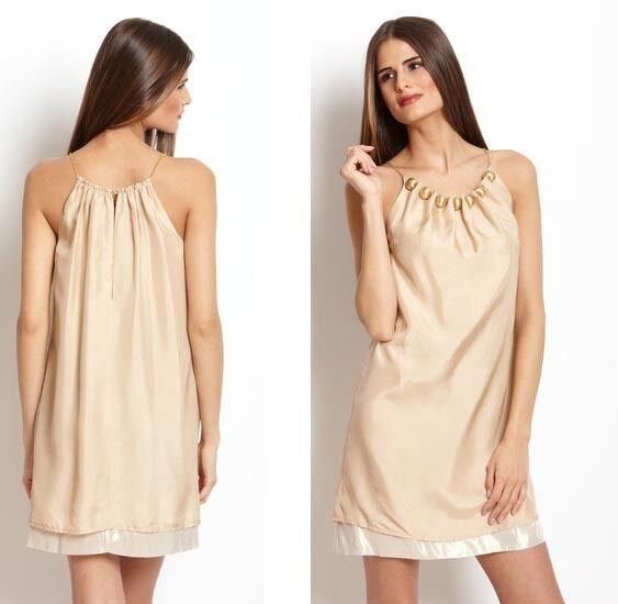 NWT US AU 2b.RYCH Glam Short Silk Bead Dress w Chain Strap Sz S AU8-10