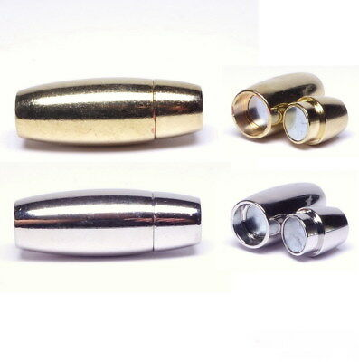 Kettenverschlüsse Magnetverschlüße silber//gold 4x13,5mm 2 Stück SERAJOSY