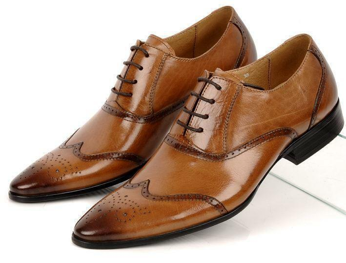 Uomo Retro Business Lace Up 7Y Pelle Formal Dress Dress Formal Oxfords Brogue WingTip Shoes 4681a3