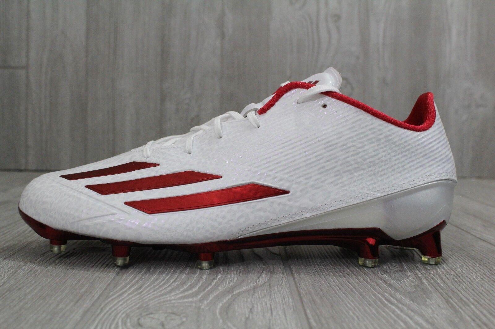 30 nuove adidas adizero 5 star 5,0 football scarpette rosso aq7382 - bianco - uomini aq7382 rosso sz 11,5 cdb85a