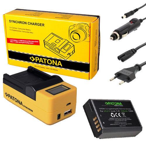 PATONA LCD USB Ladegerät für mit Premium Akku für Canon  EOS 1100D 1200D 1300D