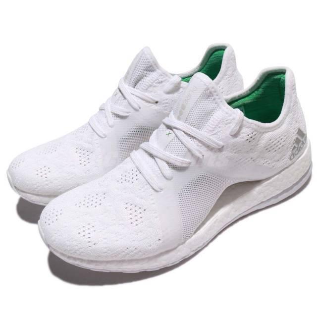 Neu Adidas Pureboost X Element Weiß Damen Laufschuhe Turnschuhe Turnschuhe BB6084