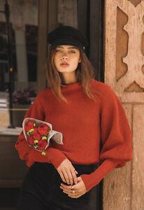1ebf6ab60 Callahan Lush Bossanova Red Cowl-neck Kane Sweater NWTXS-L Banded ...