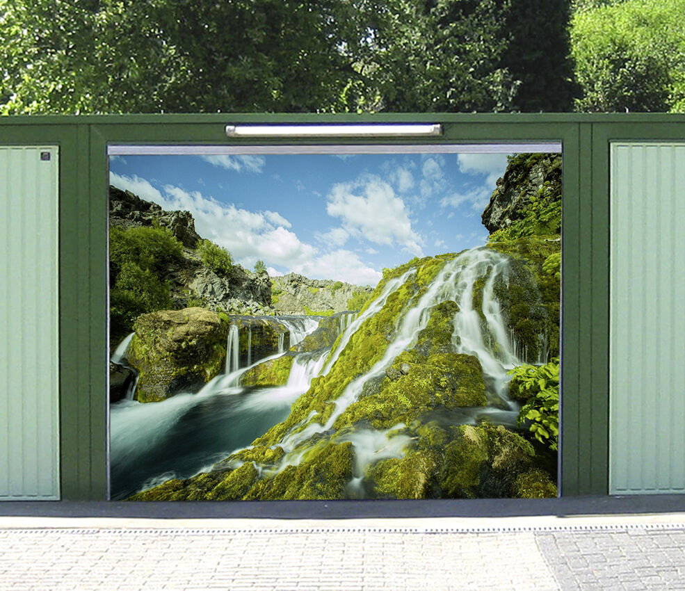 3D Flowing river 5 Garage Door Murals Wall Print Decal Wall Deco AJ WALLPAPER AU