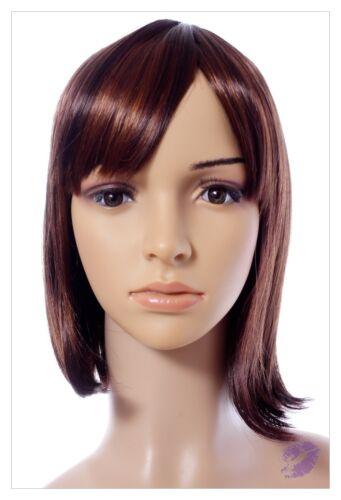 NEW STYLE BROWN REDDISH MIX LADIES wigs UK