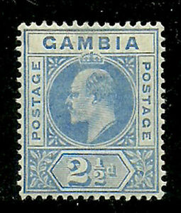 Album-Treasures-Gambia-Scott-45-2-1-2p-Edward-VII-MH