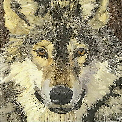 Two Can Art 4x Paper Napkins for Decoupage Craft and Party Sauvage Wolf