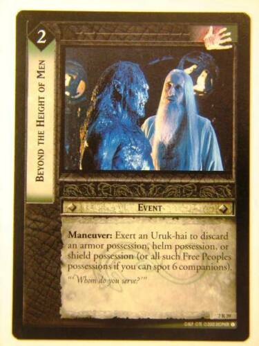 LOTR CCG Beyond The Height Of Men 2//39 Lord of the Rings