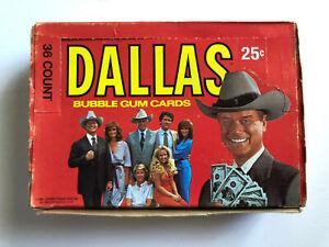 1981-Donruss-DALLAS-TV-Show-Photo-Card-Wax-Box-36-Packs-J-R-Ewing-Larry-Hagman