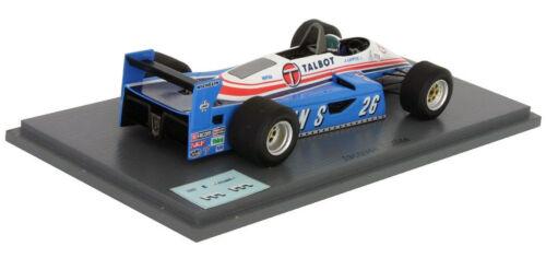 Spark S4264 Ligier JS19 #26 3rd austriaco GP 1982-Jacques Laffite 1//43 Escala