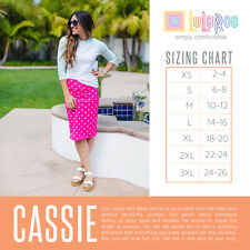 LuLaRoe Cassie Pencil Skirt- S Small- Coral Pink White Polka Dots Minnie Mouse