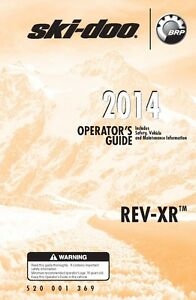 ski doo owners manual 2014 rev xr series gsx se gsx le mx z x rh ebay com ski doo owners manual pdf ski doo summit owners manual