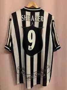 NEWCASTLE UNITED ENGLAND 1997/1999 HOME FOOTBALL SHIRT JERSEY ALAN SHEARER #9