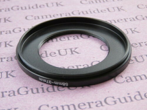 58mm A 37mm 58mm-37mm Stepping Step Down filtro anillo adaptador