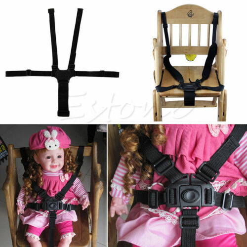 Baby Kids 5 Point Harness Safety Chair Seat Belt Straps for Stroller High Chair