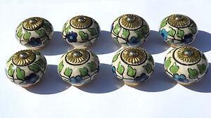 Modeste Écru Vieilli Rond William Morris Fleurs Bleues (cuivre) Tirer Choix De 2/4/6/8
