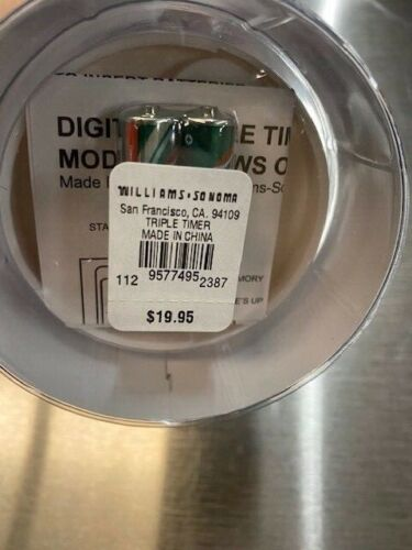 MSRP $19.95 Kitchen Williams-Sonoma Digital Triple Timer Three Cooking Times