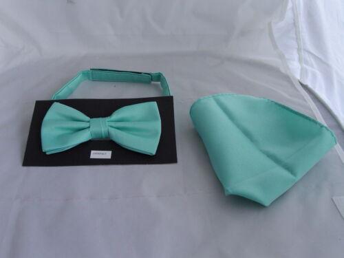 MATT vert Menthe Nœud Papillon Homme Polyester /& hankie set-60 couleurs /& GTP /& P 2UK /& gt1st classe