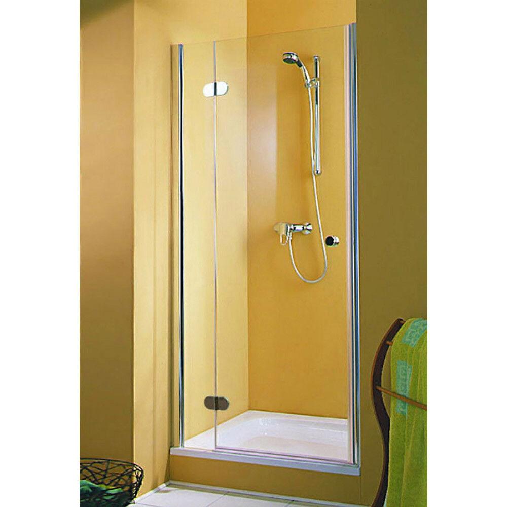 Dusche Duschtür Duschabtrennung Nischentür Drehtür Glastür Nische 80 90 Echtglas