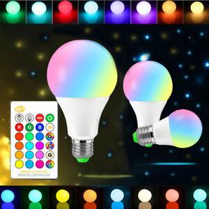 Dimmable-E27-85-265V-10-15W-RGB-W-WW-LED-Light-Color-Change-Lamp-Bulb-IR-Control