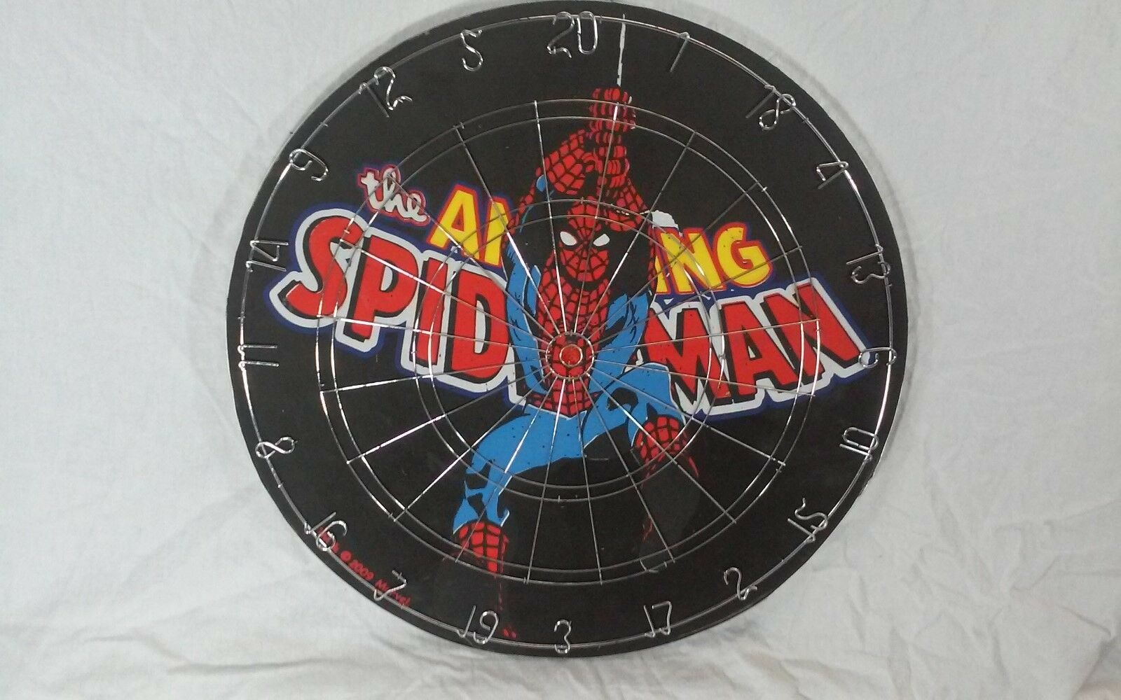 The Amazing Spiderman Dart Board - Marvel - Lightly Used - Spiderman