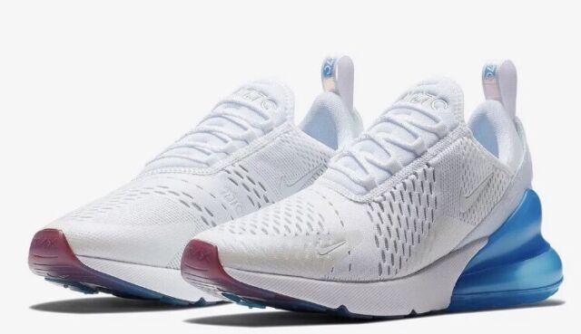 reputable site dc372 985de Nike Air Max 270 White Metallic Silver Tea Berry Size Mens 9 AQ7982-