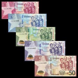 GHANA-FULL-SET-5-pcs-2019-1-5-10-20-50-CEDIS-UNC-NEW