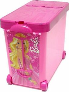 Charmant Barbie It All Pink Rolling Doll Storage Case Holds 20 Barbies Plus A106