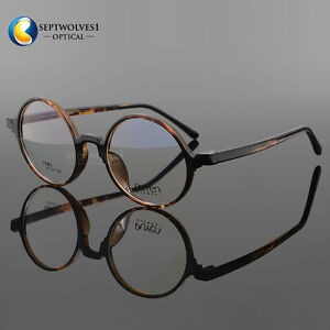 74b79d7b89 Image is loading Fashion-Vintage-Round-Men-Women-Myopia-Eyeglass-Frame-