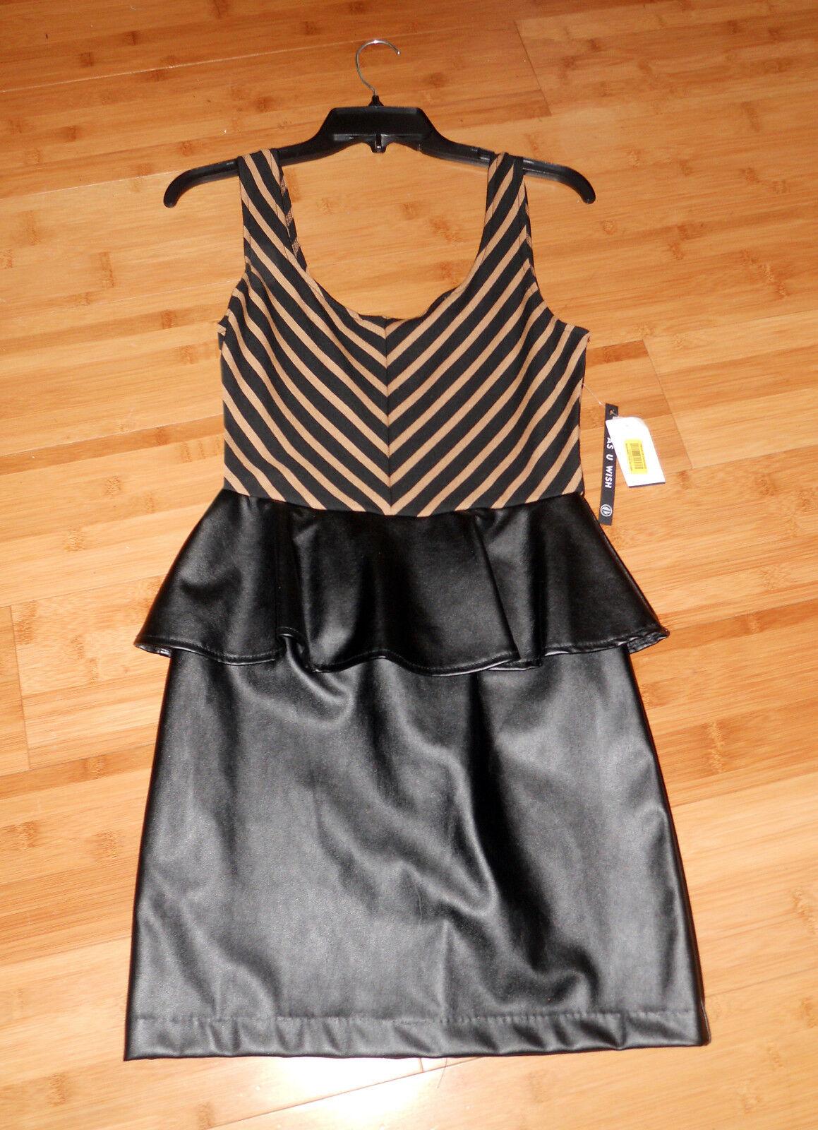 e5245cb5b Black/Brown leather look/feel NICE Style Dress-Sz Small Jr. NEW w/Tags  DILLARDS