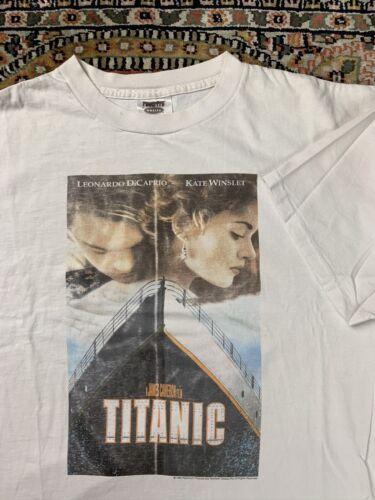 Vtg Titanic Movie Promo Tee Shirt Size XL