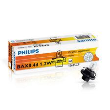 Philips BAX BX8.4d 1.2W 12V Schwarz/Black 10 Stück Instrumentenbeleuchtung 12625