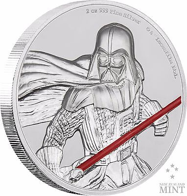 SILVER COIN 1 OZ OGP COA 2018 STAR WARS: REVENGE OF THE SITH POSTER COIN