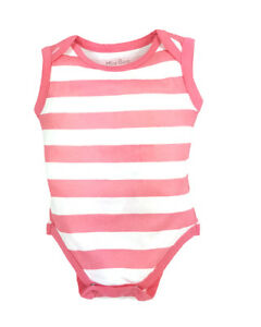 32cd9e287fe1 new pink striped sleeveless baby vests