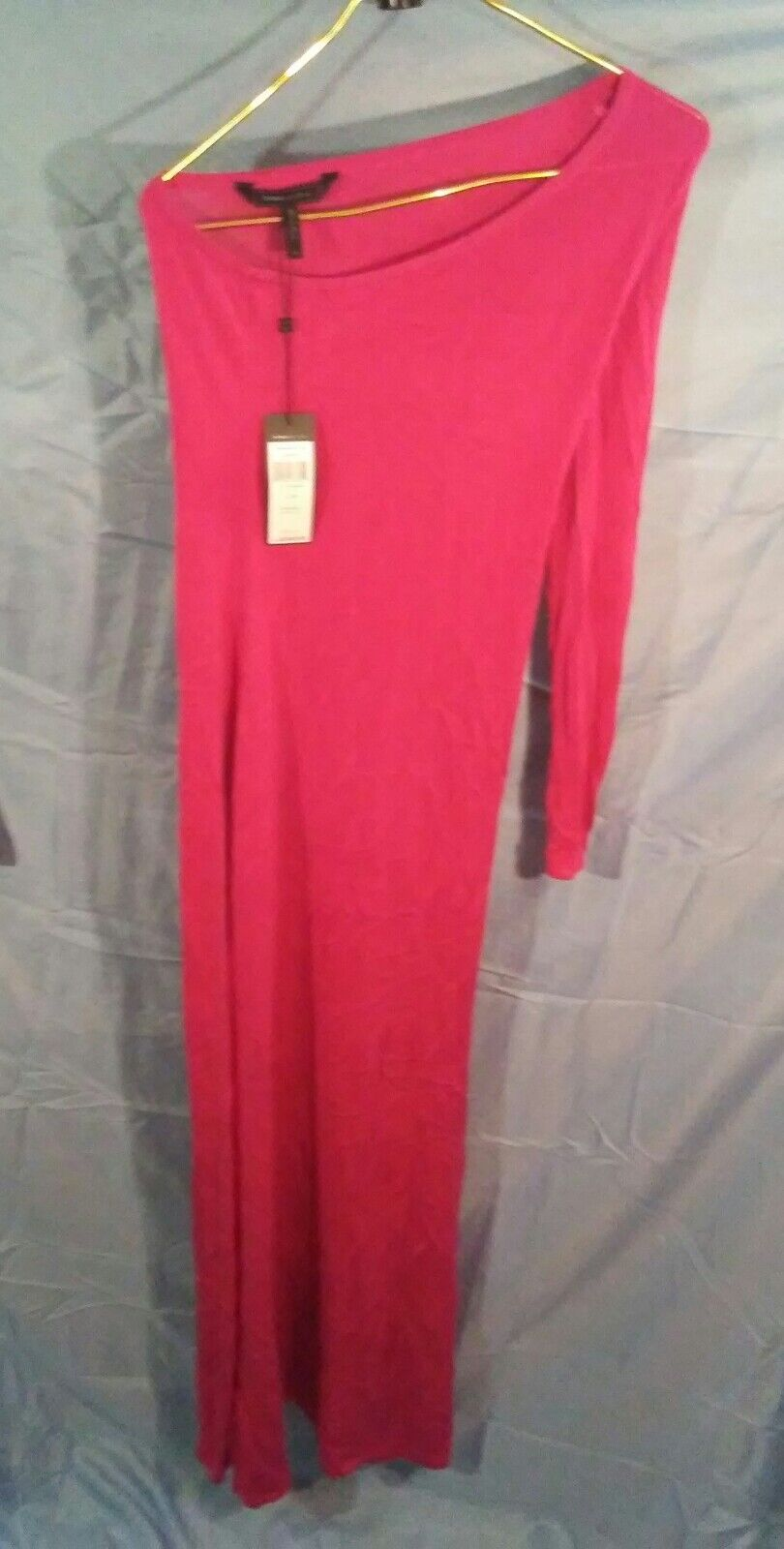 BBG Max Azria Anadia One Shoulder Gown  Dress Azalea sz XS NWT