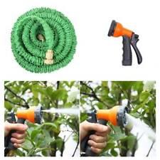 Deluxe 25 50 75 100 150 Ft Expandable Flexible Garden Water Hose w/ Spray Nozzle